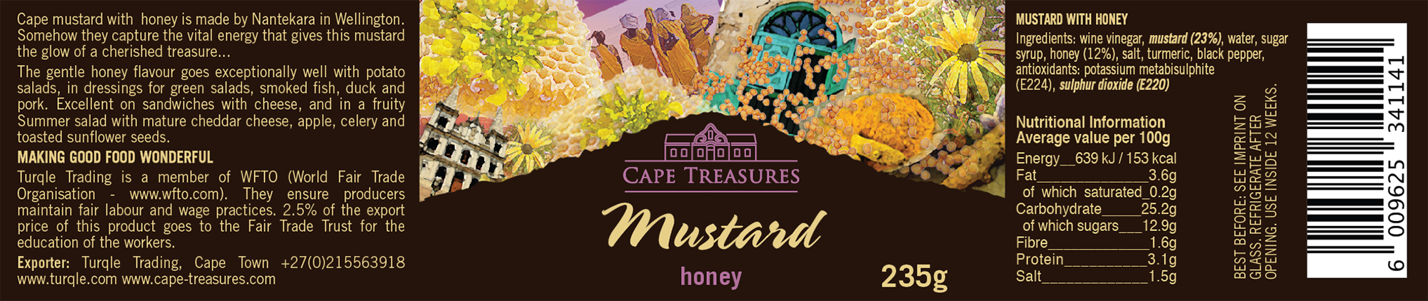 Cape Treasures Honey Mustard label