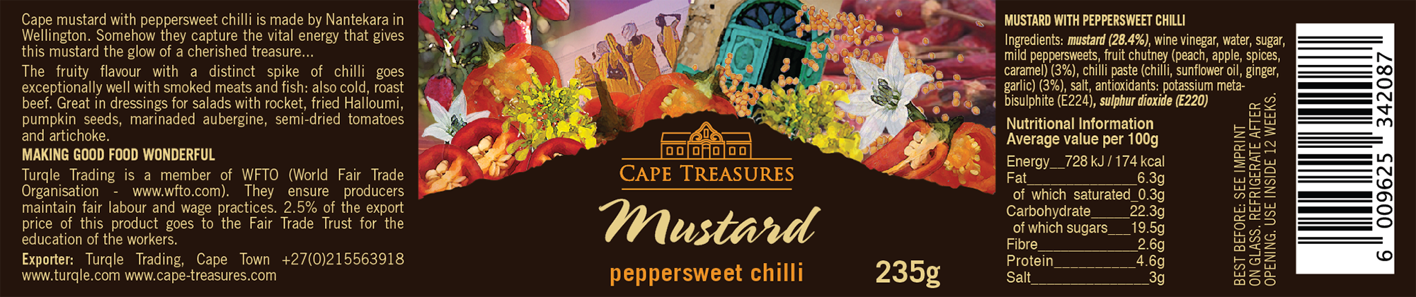Cape Treasures Peppersweet Chilli Label