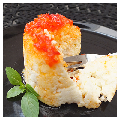 Cape Treasures Sweet Ginger & Chilli Relish: Baked Ricotta starter