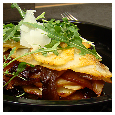 Cape Treasures Red Onion Relish picture of recipe for Potato Galette