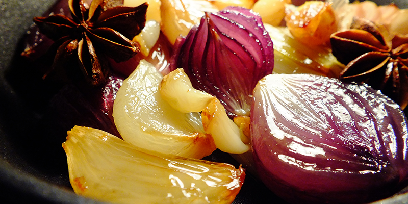 Cape Treasures Red Wine Vinegar: Roast onions & Garlic